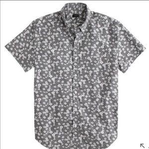 J Crew | Floral Button Up Casual Shirt Gray XL